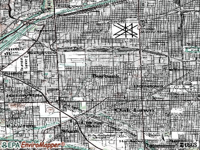 Burbank topographic map