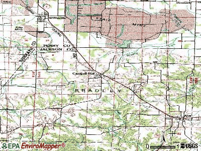 Campbell Hill topographic map