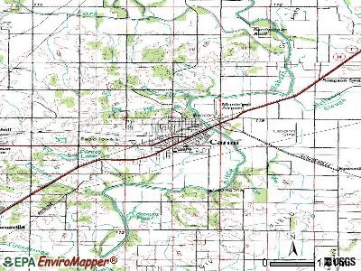 Carmi topographic map