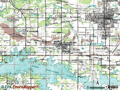 Carterville topographic map