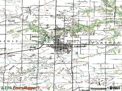 Carthage topographic map
