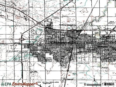 Champaign topographic map