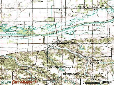 Chandlerville topographic map
