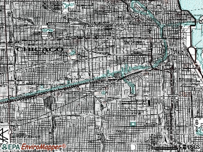 Chicago topographic map