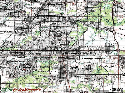Chicago Heights topographic map