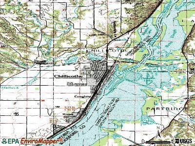 Chillicothe topographic map