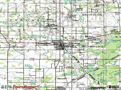Christopher topographic map