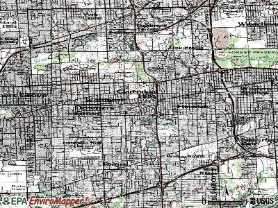 Clarendon Hills topographic map