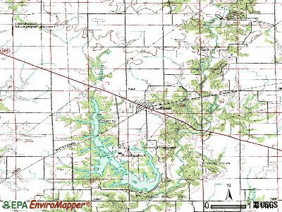 Coffeen topographic map