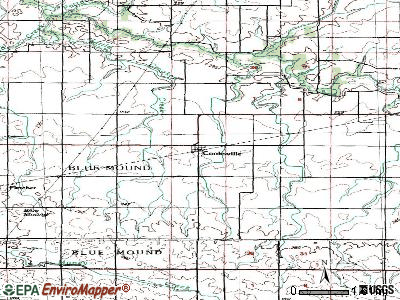 Cooksville topographic map