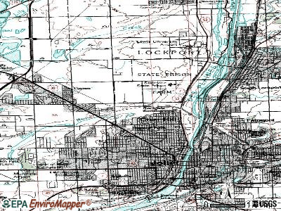 Crest Hill topographic map