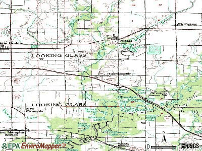 Damiansville topographic map