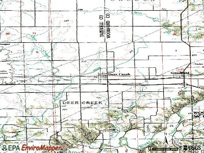 Deer Creek topographic map
