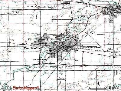 DeKalb topographic map