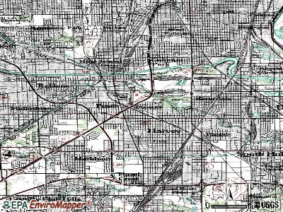 Dixmoor topographic map