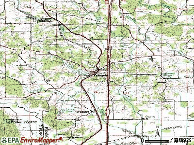 Dongola topographic map