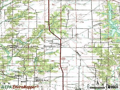 Donnellson topographic map