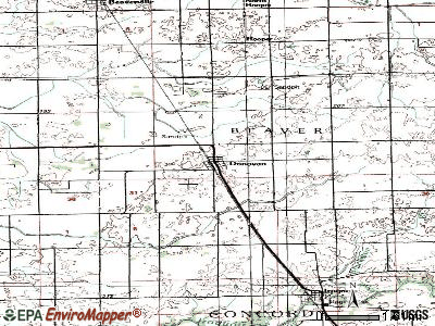Donovan topographic map