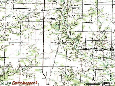 Downs topographic map