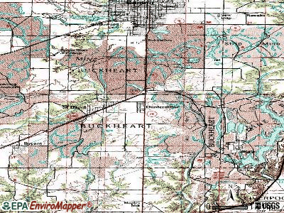 Dunfermline topographic map