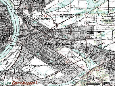 East St. Louis topographic map