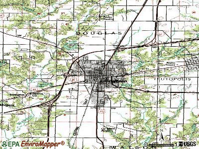 Effingham topographic map
