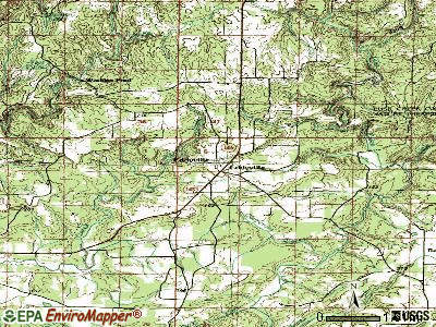 Eldred topographic map