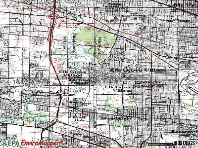 Elk Grove Village topographic map
