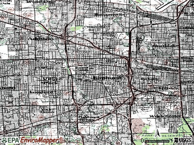 Elmhurst topographic map
