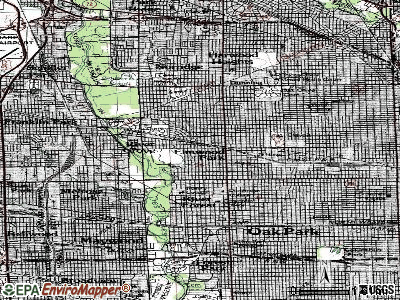 Elmwood Park topographic map