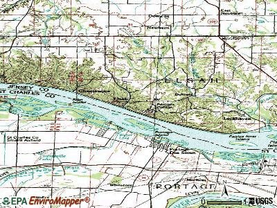 Elsah topographic map