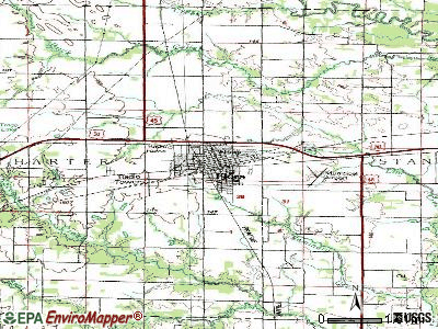 Forest Park topographic map