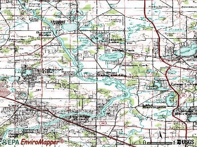 Fox River Valley Gardens topographic map