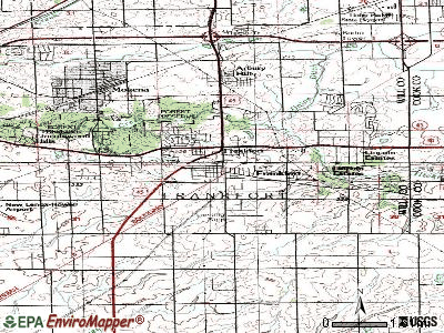 Frankfort topographic map