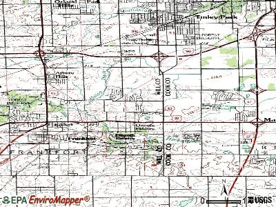 Frankfort Square topographic map