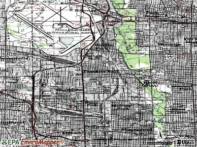 Franklin Park topographic map
