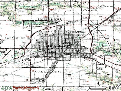 Galesburg topographic map