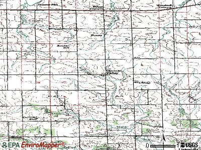 German Valley topographic map