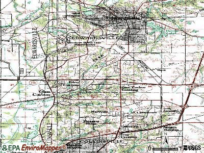 Glen Carbon topographic map