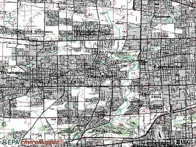 Glen Ellyn topographic map