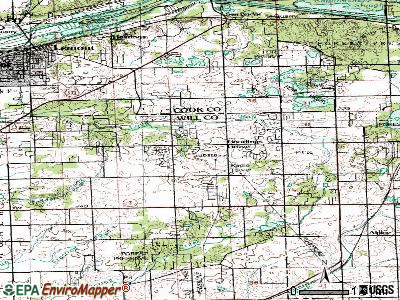 Goodings Grove topographic map