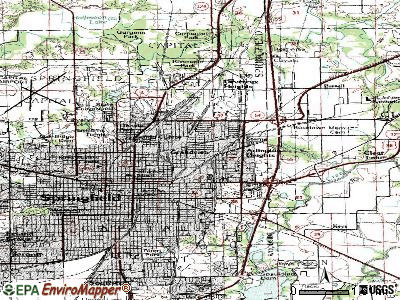 Grandview topographic map