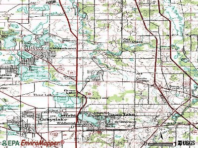 Grandwood Park topographic map