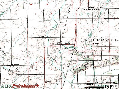 Grant Park topographic map