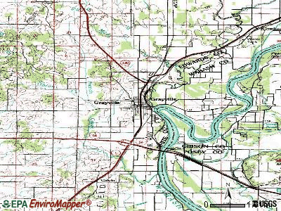 Grayville topographic map