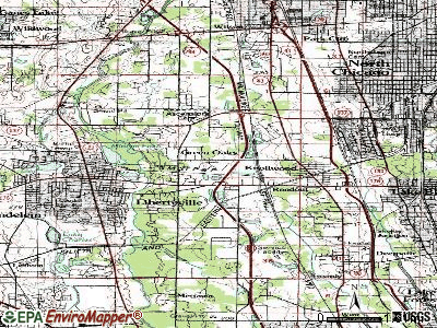Green Oaks topographic map