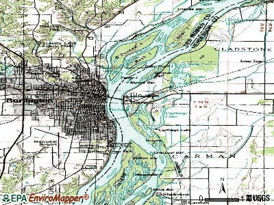 Gulf Port topographic map