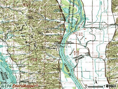 Hardin topographic map