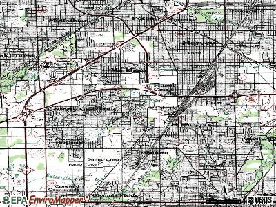 Hazel Crest topographic map