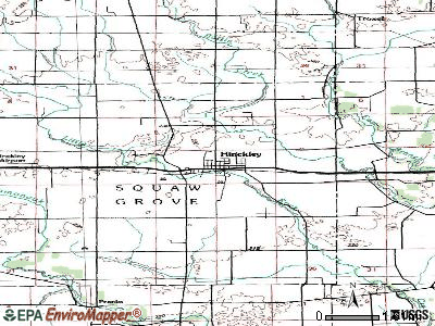 Hinckley topographic map